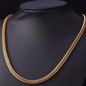 Corrente Cordão Masculino Grosso Banhado Ouro 18k Linda 06 M