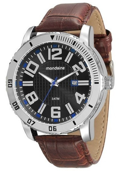 Relógio Mondaine Masculino Analógico Couro 99071g0mvnh1
