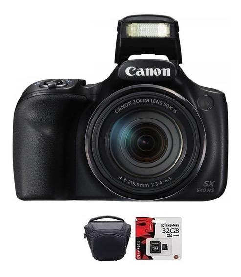 Amara Canon Sx540 20mp Full Hd 50x Wifi Memo 32gb + Bolso