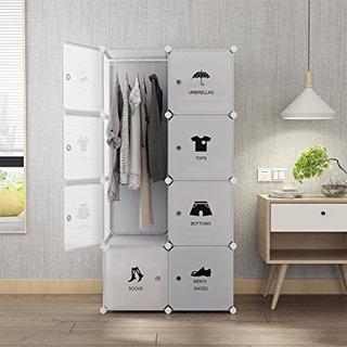 Armario Closet Pleglable Organizador Zapatos Ropa 8cubos
