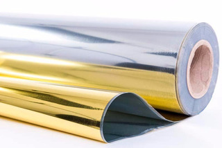 Adesivo Cromado Semi Espelhado Ouro Geladeira Amarios 1mx1m