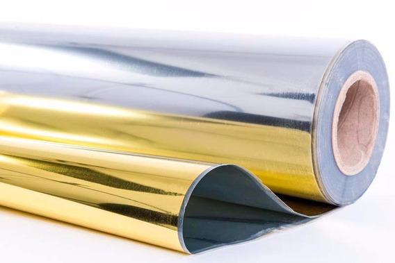 Adesivo Cromado Semi Espelhado Ouro Geladeira Amarios 2mx1m