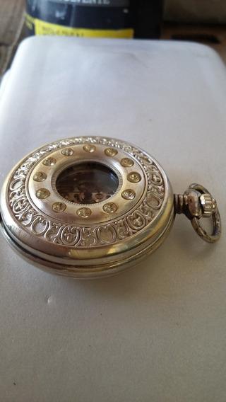 Relógio De Algibeira Caixa Em Prata A Corda Caixa Sem Marca