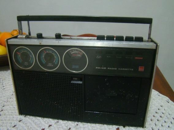 Rádio Cassete Sharp Rd-438x , Am E Fm Funcionando Cassete Ñ