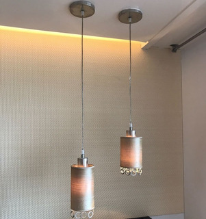 Lamparas Colgantes Pantalla Tipo Cilindro 220v Iluminacion