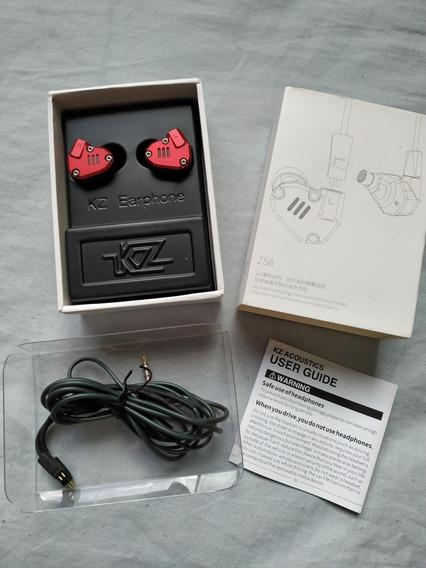 Fone In Ear Profissional Kz Zs6