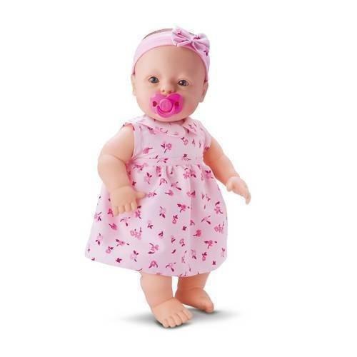 Boneca Baby Fofinha Com Vestido 106 Frases