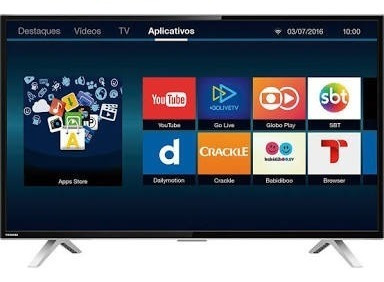 Smart Tv Led 32 Toshiba 32l2600 Hd Com Conversor Digital 3