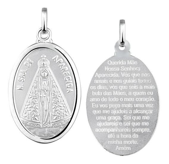 Pingente Nossa Senhora Aparecida Em Prata 925 Grande