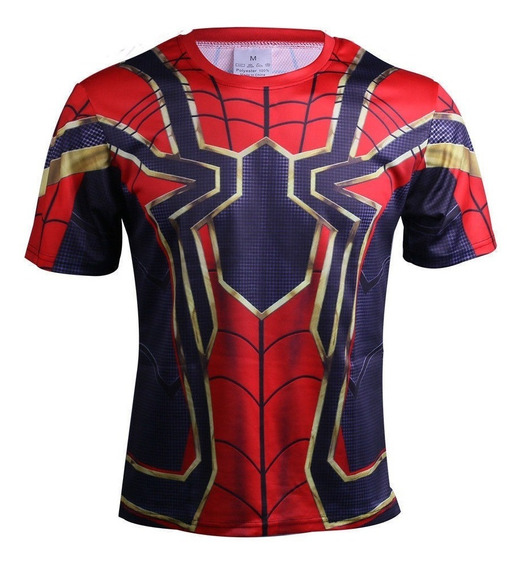 Playera Licra Spiderman Infinity War Avengers Marvel Endgame