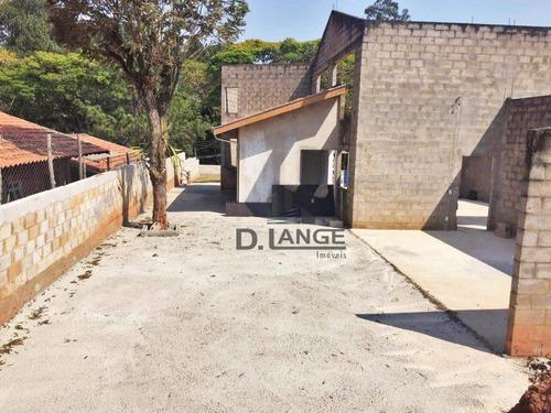 Chácara Com 3 Dormitórios À Venda, 1303 M² (oportunidade - Estudo Permuta Por Casa) - Parque Jatibaia (sousas) - Campinas/sp - Ch0356