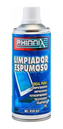Limpiador Espumoso Para Computadores Phinnix De 450 Ml