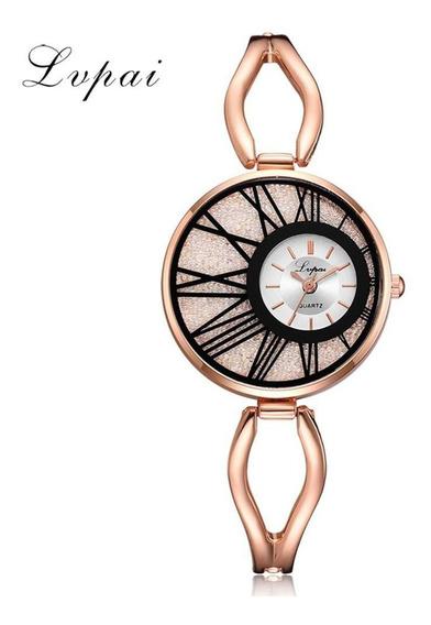 Relógios De Luxo Dourado De Quartzo