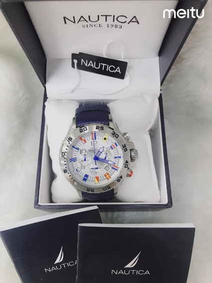 Relógio Nautica Jjl9876 Chronograph N19509g Com Caixa