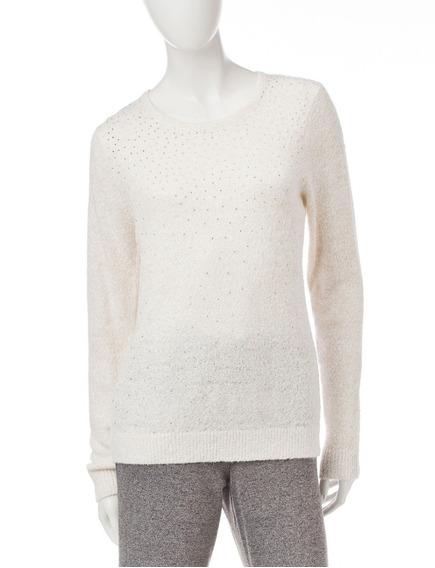 Sweater Dama Beige Con Dorado Cathy Daniels Petite T-m