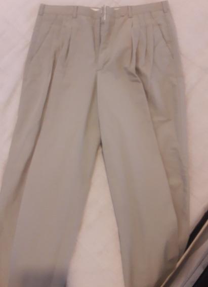 Pantalón De Vestir Hombre - Cacharel Beige Talle 46