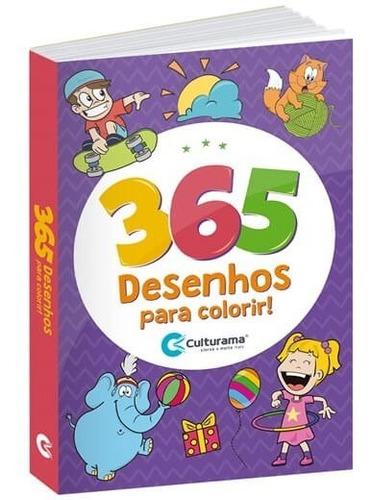 Livro Para Colorir Infantil 365 Desenhos Menino E Menina