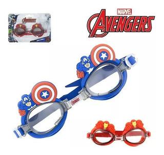 Óculos Natação Infantil Piscina Capitão America Avengers 3d