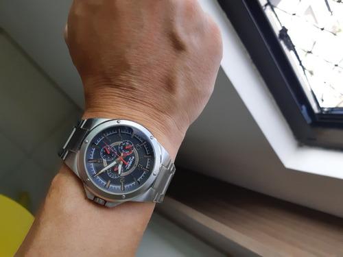 Relógio Fossil Masculino Pulseria Em Aço Escovado