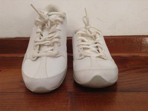 Zapatillas De Cuero Blancas Importadas D Marca