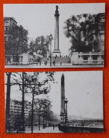 2 Antiguas Postales De La Ciudad De Londres Inglaterra