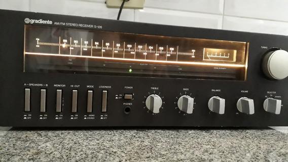 Gradiente Am Fm Stereo Receiver S-126 Tudo Funcionando Lindo