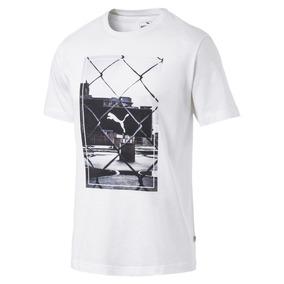 Camisa Original Puma Photoprint Algodão Tee Branca 854081-02