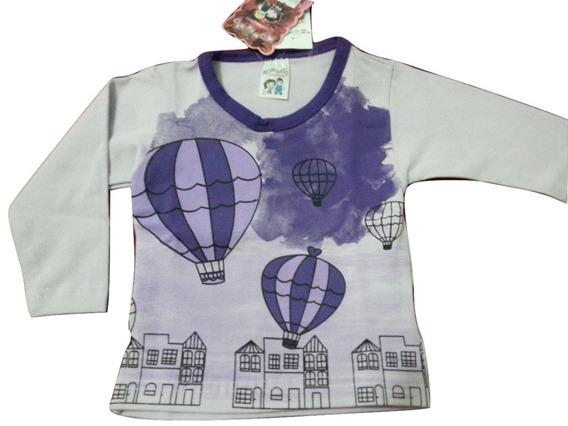 Lote Blusa Kontrato 4055 Menina Mg Longa Cotton Kit C 3-