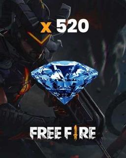 520 Diamates De Free Fire + 52 De Bonus. Recarg Por Id