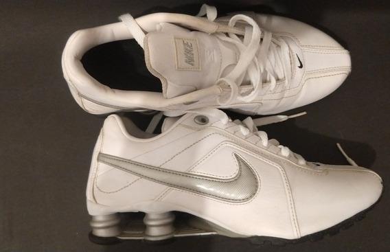 Tenis Nike Shox Original Em Couro
