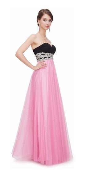 Increible Vestido Importado Straples Corazon Tul Moda Pasión