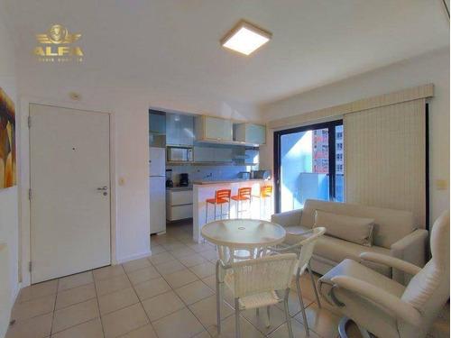 Imagem 1 de 20 de Flat À Venda Na Praia Das Pitangueiras, 2 Dormitórios, 1 Vaga. - Fl0003