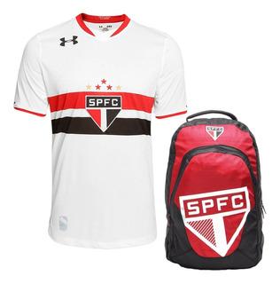 Kit Camisa São Paulo Under Armour 1+ Mochila Oficial Orig+nf