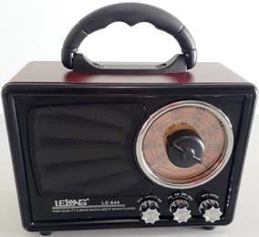 Rádio Portátil Mp3 Aux Usb Cartão Tf Pen Drive Am/fm/sw1-2