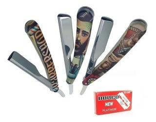 Barbera Navaja Afeitar Pasta De Diseños + 20 Cuchillas Hombr
