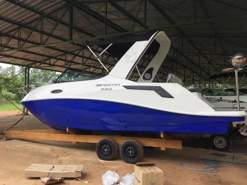 Lancha Mestra 230 + Mercruiser 250 Hp Com 130 Horas Ano 2020