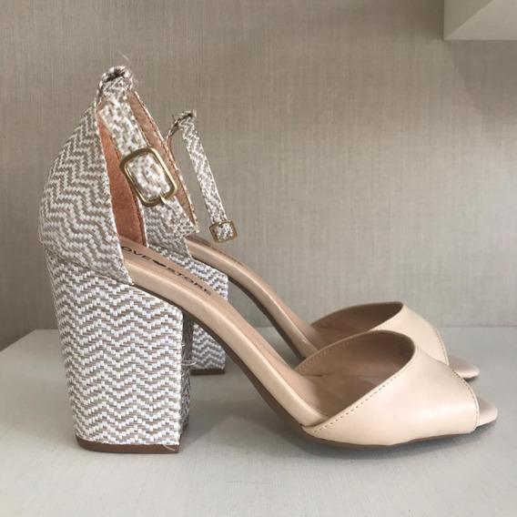 Sandália Sapato Feminina Salto Grosso Moda