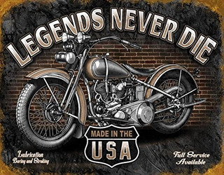 Legends Never Die Cartel De Chapa 16x12