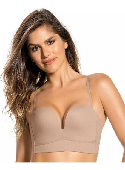 Bustier Colombiano Strapless Push Up Maximo Realce Leonisa