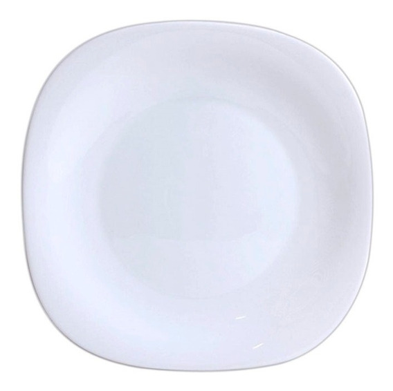 Jogo 6 Pratos Raso De Vidro Opal Diva Quadrado 27,5 Cm
