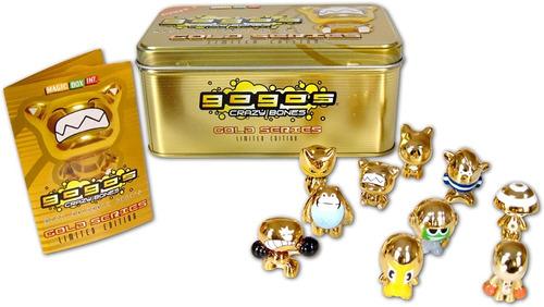 Imagen 1 de 4 de Gogos Crazy Bones Collector 10 Pack Gold Tin Gold Series