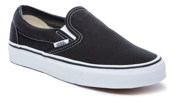 Zapatillas Vans Slip On Negro Blanco! Coleccion 2019
