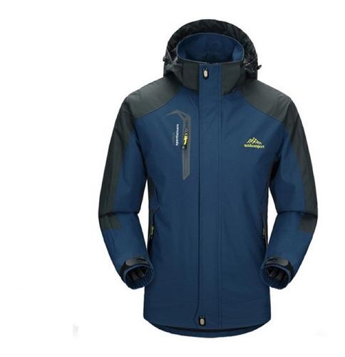 Casaco/jaqueta Corta-vento Impermeável C/capuz Para Aventura