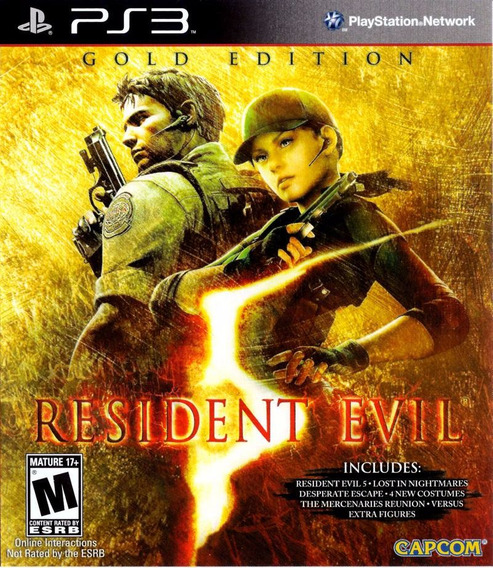 Jogo Resident Evil 5 Gold Edition Ps3 Mídia Física Re5 Capco