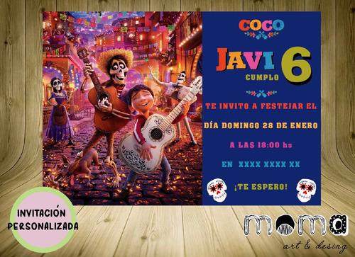 Invitaciones Imprimibles Y Digitales P/whatsapp - Coco Pixar