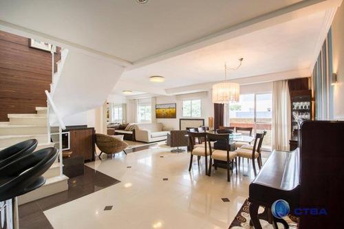Cobertura Com 3 Dormitórios À Venda, 180 M² Por R$ 868.000,00 - Mercês - Curitiba/pr - Co0018