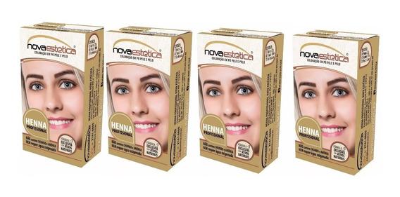 4 Kit Henna P/sobrancelhas Nova Estética Frete Gratis+brinde