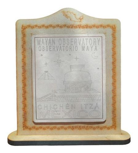 Imagen 1 de 2 de Cuadro Observatorio Maya Chichen Itza De La Cultura Maya
