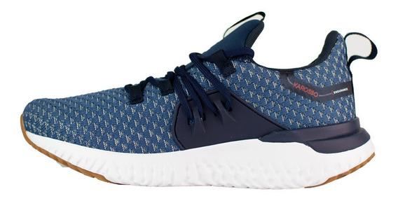 Tenis Para Correr Karosso Azul Con Suela De Eva 9501