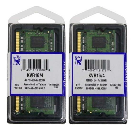 Memoria 8gb 2 X 4gb Macbook Pro 15 Late 2011 / Early 2011
